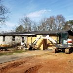 demolishing house